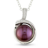 Sterling Silver .04 ctw Diamond Freshwater Pearl Fashion Pendant