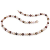 6-6.5mm Off-Round Warm Blush Freshwater Pearl Necklace Strand