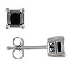 3/4 CT Black Diamond TW Stud Earrings 14k Gold White 14k Gold White I2;I3