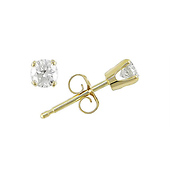 10K Yellow Gold 1/4 CTW Diamond Stud Earrings