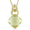 10k Yellow Gold .01 ctw Diamond & 5.2 CT TGW Lemon Quartz Fashion Pendant