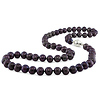 18' 6.5-7mm FW Black Pearl Necklace w/ 8mm Silver Ball Clasp