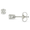 Silver 1/3ct TDW Solitaire Earrings, J-K I2-I3