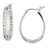 2 3/8 CT TGW Cubic Zirconia Huggie Earrings Silver