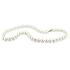 18' 6.5-7mm FW White Pearl Necklace w/ Silver Fish Eye Clasp