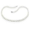 Round 7-7.5mm White Freshwater Pearl Necklace & Silver Clasp