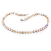 18� 7-7.5mm Pastel Freshwater Pearl Necklace & Silver Clasp