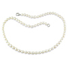 18in 5-5.5mm Freshwater Rice White Pearl Necklace w/Metal Clasp
