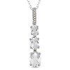Sterling Silver 0.03 CTW Diamond & 3 CT TGW White Topaz Fashion Pendant with Chain