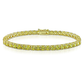 Yellow CZ Tennis Bracelet