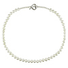 18in 4-7mm Cultured Freshwater Pearl Necklace w/Silver Heart Toggle Clasp