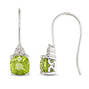 0.03 CTW Diamond & 2 CT TGW Peridot Shepard hook Earrings 10K White Gold
