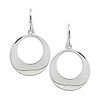 Silver Hook Circle Earrings, shepherd hook backs