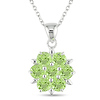 Sterling Silver 3.50 CT TGW Peridot Fashion Pendant with Chain