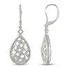 Sterling Silver 0.02 CTW Diamond LeverBack Earrings