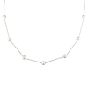 18in Silver 6-7mm Freshwater Pearl Necklace on Round Cable Chain