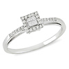10K White Gold 0.20 CTW Diamond Invisible Set Halo Style Ring