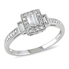 10K White Gold 0.33 CTW Diamond Engagement Ring