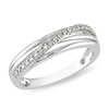 Sterling Silver 0.06 CTW Diamond Fashion Ring