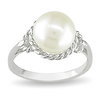Sterling Silver 9 - 9.5 MM White Freshwater Pearl Fashion Ring