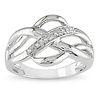 Sterling Silver 0.05 CTW Diamond Fashion Ring