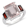 Sterling Silver 6 1/7 CT TGW Rose Quartz Garnet Fashion Ring
