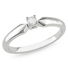 Sterling Silver Diamond Solitaire Ring