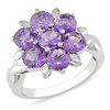 Sterling Silver 3.33 CT TGW Amethyst Fashion Ring