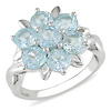 Sterling Silver 4.33 CT TGW Blue Topaz - Sky Fashion Ring