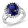 White Topaz & Created Sapphire Cocktail Ring