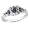 Sterling Silver 0.50 CTW Black & White Diamond Fashion Ring