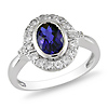 Sterling Silver 2ct White Topaz Synthetic Sapphire Fashion Ring