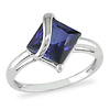 3.06 CT TGW Synthetic Sapphire Fashion Ring 10K White Gold