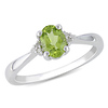 0.03 CTW Diamond & 0.80 CT TGW Peridot Fashion Ring Sterling Silver