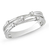 Sterling Silver Crossing Diamond Ring
