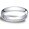 4.5mm European Comfort-Fit 14K White Gold Benchmark Ring