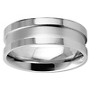 8mm Stainless Steel Designer Wedding Band