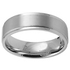 7mm Stainless Steel Step Down Wedding Band