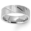 7mm Stainless Steel Carved Wedding Band