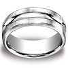 Argentium Silver 10mm Comfort-Fit Satin-Finished Design Band