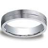 Argentium Silver 5mm Comfort-Fit Satin Finished Wedding Band
