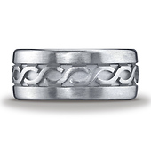 Argentium Silver 10mm Comfort-Fit Celtic Knot Ring