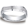 Argentium Silver 5mm Comfort-Fit Four Sided Design Band