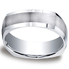 Argentium Silver 7mm Comfort-Fit Four Sided Design Band