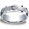 Argentium Silver 7mm Pave Set 6 Stone Diamond Design Band (.12ct)