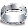 Argentium Silver 9mm Pave Set 12-Stone Diamond Design Band (.24ct)