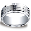 Argentium Silver 9mm Pave Set 12-Stone Black Diamond Design Band (.24ct)