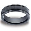 Ceramic 6mm Comfort-Fit Satin-Finished Round Edge Design Ring