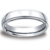 5mm High Polished Raised Center Cobaltchrome Wedding Band