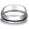 Men's High Polished Raised Center Benchmark Cobaltchrome Wedding Band